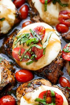 balsamic-glazed-caprese-chicken | cafedelites.com Substitute with low sugar options