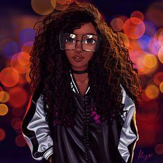 Love of Art. Black Love Art, Black Girl Art, Art Girl, Black Art Painting, Black Artwork, Natural Hair Art, Natural Hair Styles, Drawings Of Black Girls, Black Girl Cartoon
