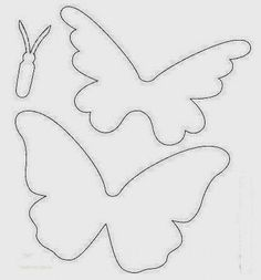 Article/tutorial is written in Spanish, but no reading is necessary if you only need to print the butterfly template. Paper Crafts For Kids, Diy Paper, Felt Crafts, Crafts To Make, Paper Art, Butterfly Party, Butterfly Birthday, Butterfly Crafts, Diy Flowers