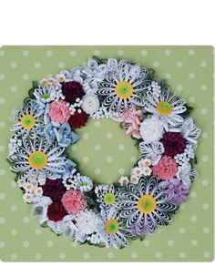 Quilled Wreath - by: bqjapan.com