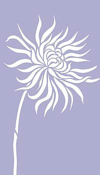 tall flower window stencil | Above - Oversize Chrysanthemum Stencil 2, with aditional stalk section ...
