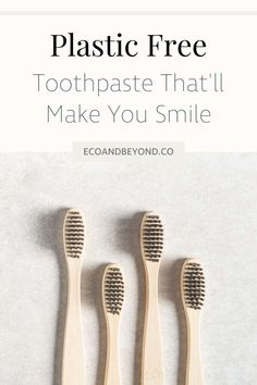 Plastic Free Toothpaste That'll Make You and the Planet Smile - Eco & Beyond - conscious What Is Plastic, Zero Waste Store, How To Prevent Cavities, Reusable Water Bottles, Plastic Waste, Metal Tins, Sustainable Living, Glass Jars, Make It Yourself