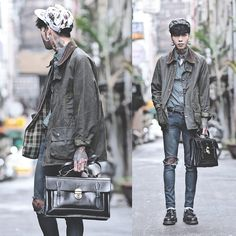 Risultati immagini per doc martens outfit men Martens Style, Doc Martens Outfit, Fall Jackets, Sport Shorts, Fashion Essentials, Vintage Jacket, Barbour, Clothing Items, Aesthetic Clothes