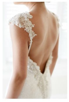 #weddingdress #lace #backless
