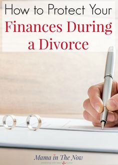 How to protect your finances during a divorce. This is the best financial advice and real-life tips from someone who has walked the walk. These practical financial tips are for surviving a divorce without ruining your financial life. #Finances #divorce #marriage #tips #money