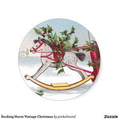Rocking Horse Vintage Christmas