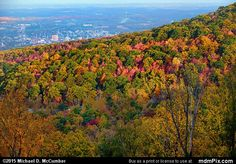 Uniontown Skyline Picture 006 - October 22, 2015 from Hopwood, Pennsylvania Picture