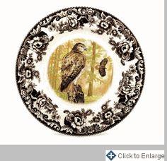 Woodland Birds of Prey Dinner Plate 10.5 in. (Autumn Hawk)