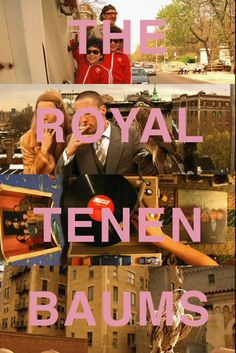One of my all time favourite movies The Royal Tenenbaums... and quite possibly the only movie with Gwenyth Paltrow that I've enjoyed.