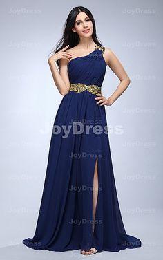 Sequin Bow A-line One Shoulder Floor-length Dress - Joydress.co.uk - 221 - pro - p12g1206159