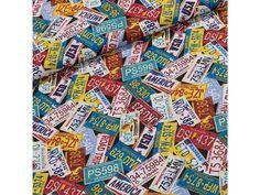 Bavlněné plátno 103000/14159 automobilové značky, š.140cm (látka v metráži) | TextilCentrum.cz California Travel, Statues, Cards, Scrappy Quilts, Automobile, Playing Cards, Maps
