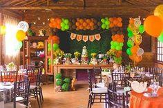Lucas' Safari | CatchMyParty.com 1st Birthday Boy Themes, Safari Birthday Party, First Birthday Parties, Birthday Ideas, Jungle Theme Parties, Jungle Party, Safari Theme, Snake Party, Bee Party