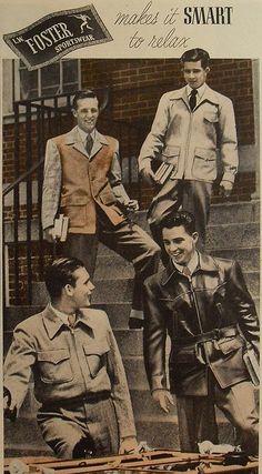 1940s L.W. FOSTER sportswear men's fashion photo advertisement college menswear by Christian Montone, via Flickr