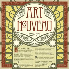 Art Nouveau typography album back cover | Flickr - Photo Sharing!