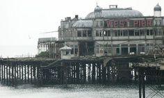 abandoned ballroom,  West Pier, Brighton Beach U.K.  3 Abandoned Pleasure Piers in the UK | Urban Ghosts |