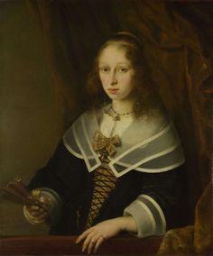 Ferdinand Bol. A Lady with a Fan, (1645-50, London, National Gallery)