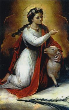 Saint of the Day – 21 January – St Agnes (c 291- c 304) Virgin and Martyr – Patronages – Betrothed couples; chastity; Children of Mary; Colegio Capranica of Rome; crops; gardeners; Girl Guides; girls; rape victims; virgins; the diocese of Rockville Centre, New York; the city of Fresno.   Attributes – crown of thorns, lamb, woman with long hair and a lamb, sometimes with a sword at her throat, woman with a dove which ....