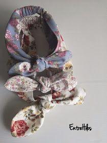 como hacer bandana o diadema de lazo Headband Tutorial, Diy Headband, Headbands, Boho Baby, Baby Sewing, Scrunchies, Hair Ties, Fabric Flowers, Fabric Crafts