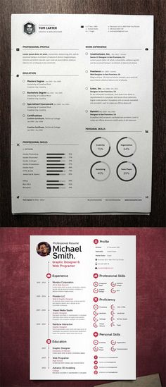 2 Vector Pro Resume Templates » Free Special GFX Posts Vectors AEP Projects PSD Web Templates