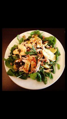 Hallumi, mint and orange salad