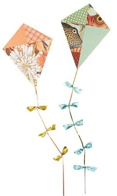 Paper Source has great supplies for any paper craft- here they have instructions for making paper kites- great for a blustery day for boys and girls alike!