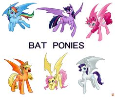 Oh my gosh that would be cool if they made an episode of them all becoming bat ponies.