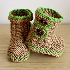 super cute handknitted boots