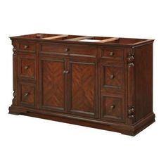 FEBO 60 in. Single Bowl Vanity Cabinet Only in Classic Cherry-F11-AE-017-04V at The Home Depot $862
