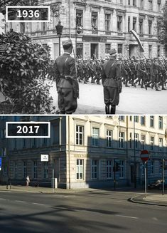 Near Poznań, Poland, 1936 - 2017 Then And Now Pictures, Before And After Pictures, Photo Voyage, Memories Faded, Ww2 Pictures, War Photography, Strange History, Paris City, History Photos