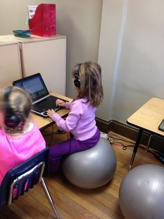 Have your child sit on a stability ball while doing homework — it'll help with their concentration. | 35 Little Hacks That Will Make Parenting So Much Easier