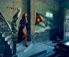 Rihanna en Cuba. Foto: Annie Leibovitz
