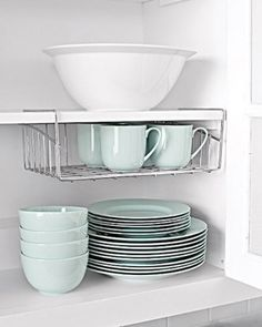 Top 58 Most Creative Home Organizing Ideas and DIY Projects.... underself for more vertical storage