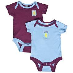 Aston Villa 2 Pack Bodysuits Aston Villa, Bodysuits, Onesies, Football, Club, Kids, Clothes, Soccer, Young Children