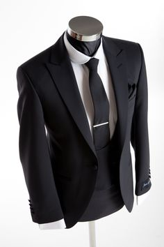 Slim Wedding Suit - Richmond Black - Double Breasted Waistcoat