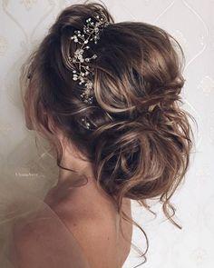 Ulyana Aster Romantic Long Bridal Wedding Hairstyles_29 :heart: See more: http://www.deerpearlflowers.com/romantic-bridal-wedding-hairstyles/