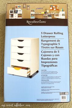 IKEA Alex Dupe - My Newest Addiction Beauty Blog  recollections 5 drawer letter press from Michaels!