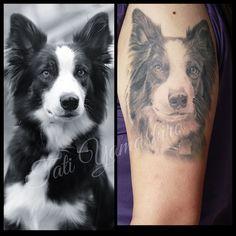 Tattoo da minha Border Collie Chanel