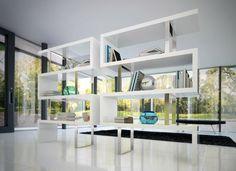 Magnifique meuble aux formes uniques pour le salon