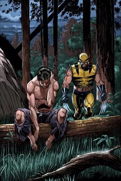 Bruce Banner and Wolverine