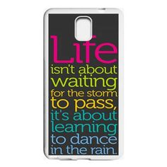 Life Quotes About Dance Typograph Samsung Galaxy Note 3 case $16.50