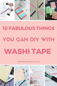 Click+through+to+see+10+fabulous+DIY+projects+using+Washi+Tape.+You+will+love+the+projects+from+this+list+as+they+are+super+simple+and+gorgeous!