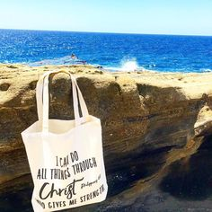 Do you know what time it is ???...Time to go the beach🌊 with one of our totes 👜for you to carry around and it will also serve as a reminder for you and others that we can do all things through Christ who gives us strength 💪.... . Happy first day of SUMMER loves 💕☀️ 👉🏼SHOP: www.crossedpathsla.com 👈🏼 . . . #Jesus #blessed #summer #summertime #summersolstice #beach #sun #rocks #hawaii #aloha #tote #totebags #inspirational #adventure #quote #bibleverse #wordsofwisdom #etsy #etsyseller