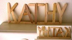 letters van ijslolly stokjes