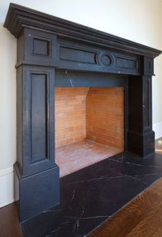 Crazy Tips: Tall Fireplace Tile fireplace romantic mantles.Antique Black Fireplace concrete fireplace how to build. Painted Fireplace Mantels, Paint Fireplace, Concrete Fireplace, Home Fireplace, Faux Fireplace, Fireplace Remodel, Fireplace Surrounds, Living Room With Fireplace, Fireplace Design