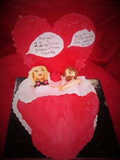 For 22 wedding anniversary a funny cake...