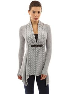 Women's Cardigans - PattyBoutik Womens Buckle Braid Front Cardigan ** Want to know more, click on the image.