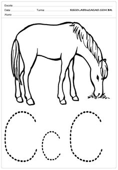 Atividades com a letra C – Cavalo Moose Art, Letter C Activities, Educational Activities, Alphabet, Preschool Winter, Down Syndrome, Lyrics, Initials, School
