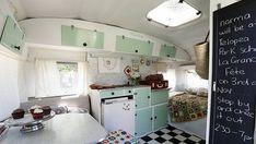 """Interior of vintage caravan """"i am norma"""" cupcake store."""