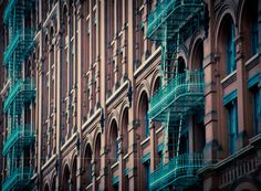 Turquoise Fire Escape .. Soo Cute!