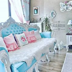 Shabby Chic Furniture, Luxury Furniture, Home Furniture, D House, Pretty Room, Pink Room, Beauty Room, Decoration, Home Art